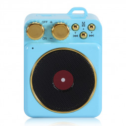 Elvis Retro Wireless Bluetooth Speaker Portable Subwoofer Creative Loudspeaker Audio Speaker Gift Support TF USB - Blue