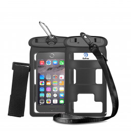Small Size Below 5.2 inches Waterproof Phone Case Bag Universal Phone PVC Bag - Black