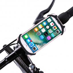 Soft Silicone Mobile Phone Bracket Shockproof Anti-shake Bike Bracket Bicycle Holder Stand - Black