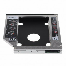 Universal 12.7mm SATA to SATA 2nd Enclosure SSD HDD Hard Drive Caddy Bracket - 12.7mm