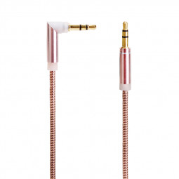 3.5mm to 3.5mm Jack Cable Spring Cable Male to Male Stereo Audio Aux Cable - Rose Gold