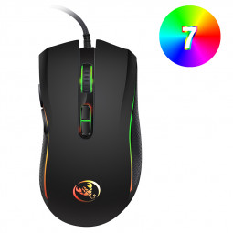 A869 Optical Wired Gaming Mouse Colourful Led Backlight Backlit Mouse for PC Laptop