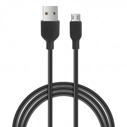 1m Micro USB Charger Cable Charging Line for Android Mobile Phone - Black