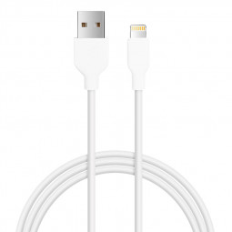 Apple 8pin Charging Cable iPhone Soft Durable TPE Charger Cable - White