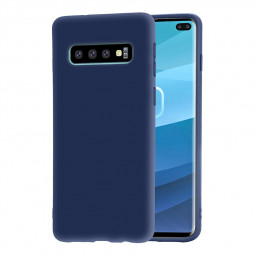 Anti Slip Soft TPU Back Case Durable Phone Simple Cover for Samsung Galaxy S10 Plus - Blue