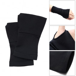 One Pair Sports Hand Wrist Brace Support Sleeve Compression Bandage Black - S