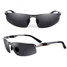 Sports Aluminum Magnesium Men's Polarized Sunglasses Pilot Driving Glasses - Grey