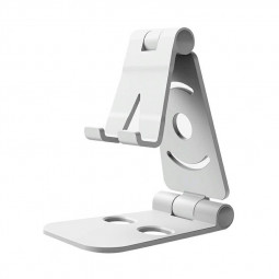 Portable Desk Mount Holder Stand Mobile Phone Bracket for Cellphone Tablet iPad - Silver