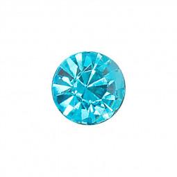3mm x 2.33mm Round Glass Diamond Glass Drill Jewelry DIY Jewelry Imitation Diamond - Light Blue