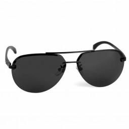 Aluminum Frame Polarized Sunglasses Mens Driving Glasses Outdoor Sports Goggles Eyewear - Black