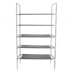 3/4/5 Tier Shelf Shoe Rack Nonwoven Shoes Storage Organiser for 15/25/50 Pairs of Shoes - 5 Tier