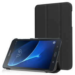 PU Leather Tri-Fold Flip Stand Cover Case for Samsung Galaxy Tab A 7.0  Inch - Black