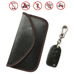 Carbon Fiber Signal Blocker Case Fob Pouch Faraday RFID Blocking Pouch Shielding Bag for Cellphone Car Remote