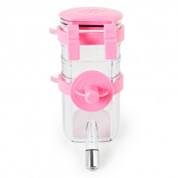 Dog Sucking Water Drinking Bottles Environmentally Friendly Material Hangable Portable Water Drinker - Pink