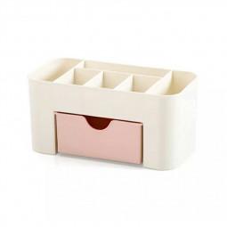 Drawer Cosmetic Make Up Organizer Box Desktop Sundries Storage Box - Pink