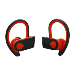 TWS-3 Bluetooth 5.0 Wireless Earphone Ear-hook Stereo Headset Hifi Sports Headphones for iPhone Android Phones - Red