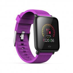 Q9 Smart Watch Sport Bracelet IPS Calories Heart Rate Sleep Monitor Blood Pressure Fitness Tracker - Purple