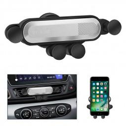 One Deformable Gravity Car Phone Holder Air Outlet Mount Holder Bracket - Silver