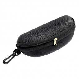 Sunglasses Reading Glasses Carry Case EVA Bag Hard Zipper Box Travel Pack Pouch - Black