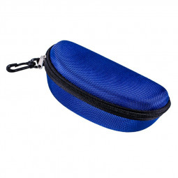 Sunglasses Reading Glasses Carry Case EVA Bag Hard Zipper Box Travel Pack Pouch - Blue