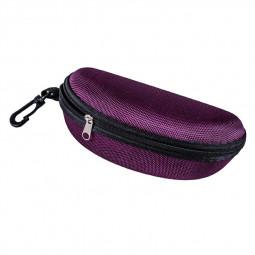 Sunglasses Reading Glasses Carry Case EVA Bag Hard Zipper Box Travel Pack Pouch - Purple