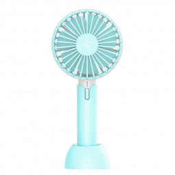 Summer Handheld Fan Portable Mini Fan USB Desktop Fan for Home Outdoor and Office - Blue