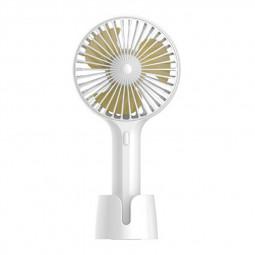 Summer Handheld Fan Portable Mini Fan USB Desktop Fan for Home and Office - White