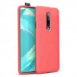 Soft TPU Bumper Shockproof Grainy Protective Case Back Case Cover for OnePlus 7 Pro - Red