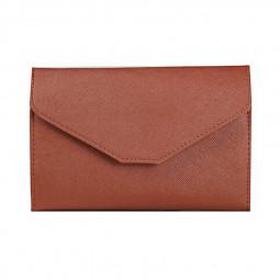 PU Leather Travel Bag Purse Wallet Document Organiser Passport Wallet Ticket Holder - Brown