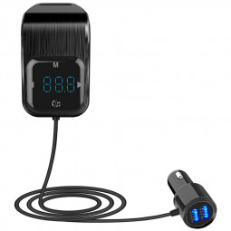 BC39 Car Bluetooth MP3 Music Player Dual USB Hands-Free Call FM Transmitter - Black
