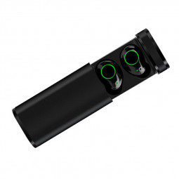 X23 TWS 5.0 Metal Stylish Wireless Earphones Headset Stereo Earbuds with Charging Case - Black