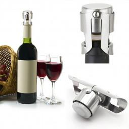 Stainless Steel Champagne Stopper Sparkling Wine Bottle Plug Sealer Keep Fresh Convenient