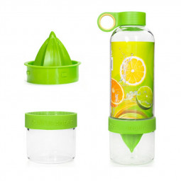 800ML Press Citrus Lemon Water Bottle Juice Fruit Infuser Filter Cup - Green
