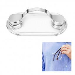Magnetic Glasses Sunglasses Spectacles Clip Earphone Key Eyeglass Holder Clip - Silver