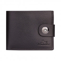 Business Vintage Leather Soft Wallet Coins Pocket Credit Card Holder Fashion Purse for Men - Dark Coffee