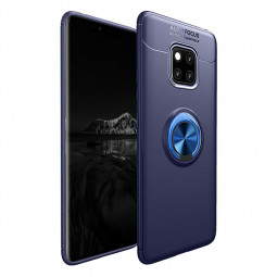 Soft TPU Shockproof Bumper Phone Case with Metal Ring Stand Holder for Huawei Mate 20 Pro - Blue