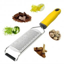 Stainless Steel Cheese Grater Blade Cheese Lemon Slicer Vegetable Fruit Zester Peeler Kitchen Tool - Yellow