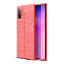 Soft TPU Bumper Slim Back Case Matte Phone Cover for Samsung Galaxy Note 10 Plus - Red