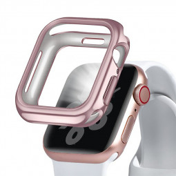 44mm Plated TPU Case Protective Watch Case Cover for Apple Watch Series 4 - Rose Gold