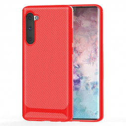 Ultra Thin Back Case Cover Grainy TPU Phone Case Silicone Case for Samsung Galaxy Note 10 - Red
