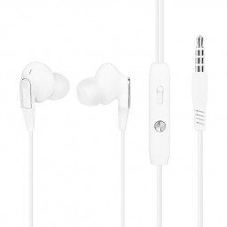 RI3V Noodles Wired In-ear Earphones 3.5mm Bass Stereo Headphones with Microphone - White