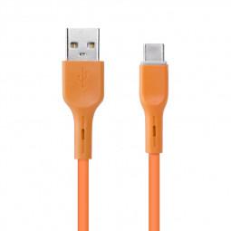 Candy Colour Type C USB 3.1 Cable Soft TPE USB C Charging Cable 1m - Orange