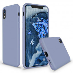 Soft Protective Phone Case Ultra Thin TPU Liquid Silicone Cover Shockproof Case for iPhone XR - Grey