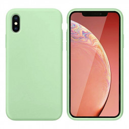 Ultra Thin Phone Case Slim TPU Liquid Silicone Protective Cover Case for iPhone X/XS - Green