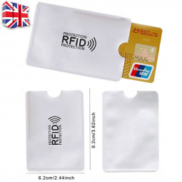 Bank Card Blocking Contactless Debit Credit Protector Sleeve Rfid Wallet Case Holder Aluminum Foil Shielding Card Holder