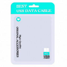 PE Packing Bag Package Plastic Bags Packed Bag Seller USB Cable Packaging Bag for Cellphone Data Cable - Lake Blue