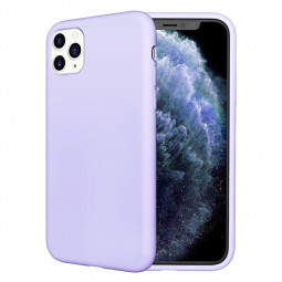 Liquid Silicone Protective Case Shockproof Cover Soft TPU Phone Case for iPhone 11 Pro - Purple