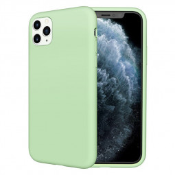Pure Colour Liquid Silicone Shockproof Cover Case Soft TPU Phone Case for iPhone 11 Pro Max - Green