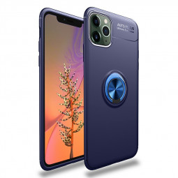 Shockproof Magnetic Ring Holder TPU Bumper Case Cover with Comfortable Grip for iPhone 11 Pro Max - Blue