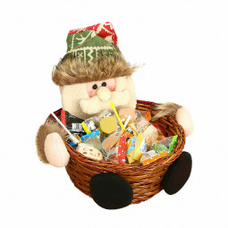 Merry Christmas Product Candy Storage Basket Decorations Santa Claus Snow Man Deer Xmas Storage Baskets - Santa Claus